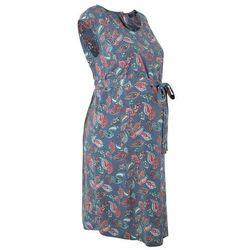 Sukienka ciążowa bonprix indygo wzorzysty