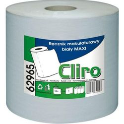 Ręcznik papierowy w roli Maxi biały - Cliro Papierowy ręcznik w roli biały Cliro