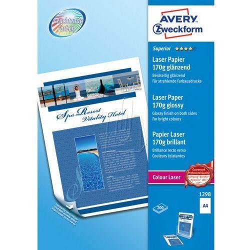 Papiery fotograficzne, Papier fotograficzny błyszczący 170g 210 x 297mm 200 arkuszy Avery Zweckform 129