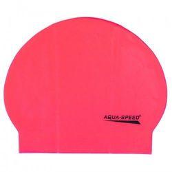Czepek pływacki lateksowy Aqua Speed różowy