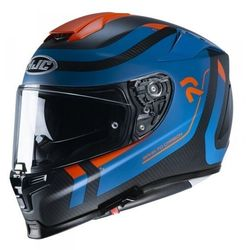 Hjc kask integralny r-pha-70 carbon reple bla/bl/r