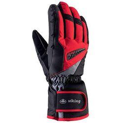 Rękawice narciarskie Viking Baldo - Czarno-czerwony viking (-28%)