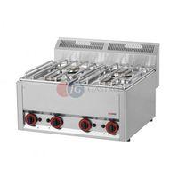Piece i płyty grzejne gastronomiczne, Kuchnia gazowa stołowa 4-palnikowa Red Fox linia 600 SP 60 GL