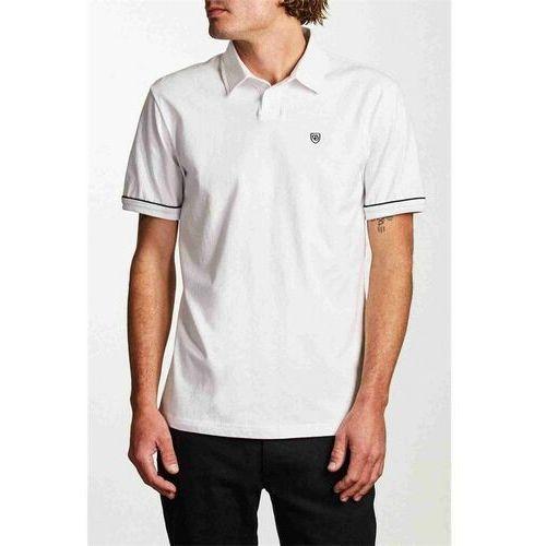 Męskie koszulki polo, koszulka BRIXTON - Carlos S/S Polo Knit White/Black (WHBLK) rozmiar: S
