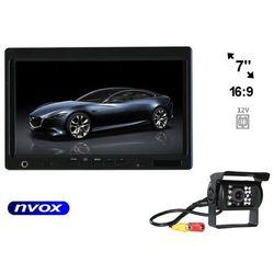 """Zestaw Monitor zagłówkowy lub wolnostojący LCD 7"""" Samochodowa kamera cofania"""