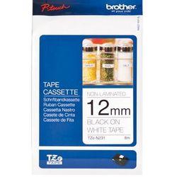 Brother etykiety nielaminowane 12 mm. x 8 m. TZ-N231, TZN231, TZE-N231, TZEN231