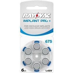 6 x baterie do aparatów słuchowych Rayovac 675 IMPLANT PRO+ MF