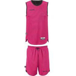 Strój koszykarski dziecięcy dwustronny Spalding - czarno/różowy 119 bt (-8%)