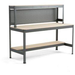 Stół warsztatowy COMBO z panelem i oświetleniem, 1840x775x1530 mm