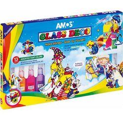 Farby witrażowe 22 ml X 13 kolorów AMOS - X00563