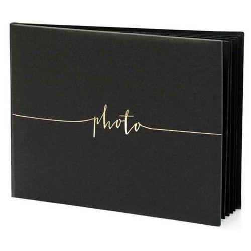 """Fotoalbumy, Album na zdjęcia """"Photo"""", PartyDeco, 24 x 18,5 cm, czarny, 22 kartki"""