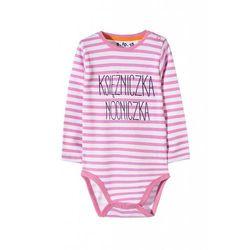 Body niemowlęce w różowe paski 5T3443 Oferta ważna tylko do 2019-10-08