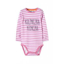 Body niemowlęce w różowe paski 5T3443