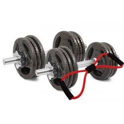 Hantle żeliwne kierownice zestaw 2x10 kg Tytan Sport 20 kg + Ekspander