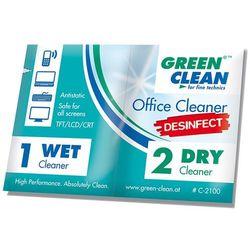 Green Clean zestaw ściereczek dezynfekujących mokra/sucha 100 szt.