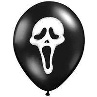 Balony, Balony czarne na Halloween - Krzyk - 37 cm - 5 szt.