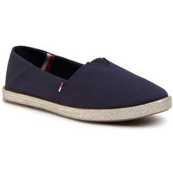 Espadryle TOMMY JEANS - Metallic Flexible Espadrille EN0EN00879 Twilight Navy C87