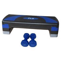 Step 3 poziomy z hantlami fitness 2 x 3 kg