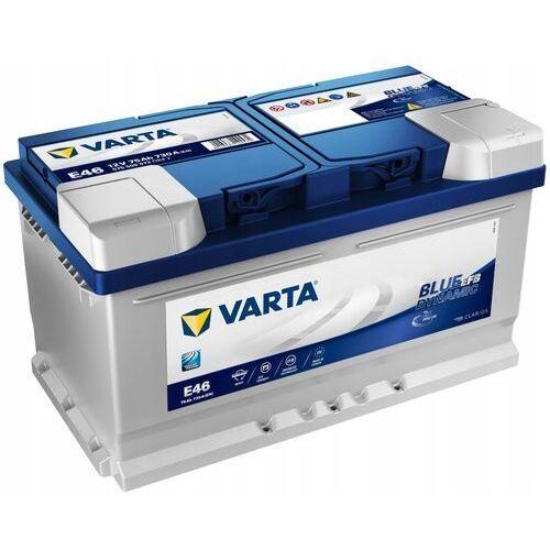Akumulatory samochodowe, Akumulator VARTA Blue Dynamic EFB E46 75Ah 730A (EN)