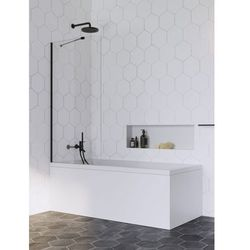 Radaway parawan nawannowy Idea Black PNJ 70 cm, szkło przejrzyste, wys. 150 cm 10001070-54-01