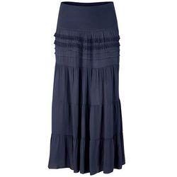 Długa spódnica bonprix ciemnoniebieski