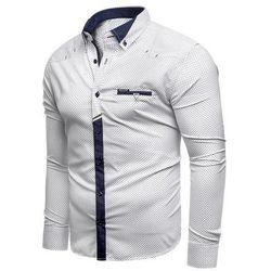 Koszula męska długi rękaw rl07 - Biała