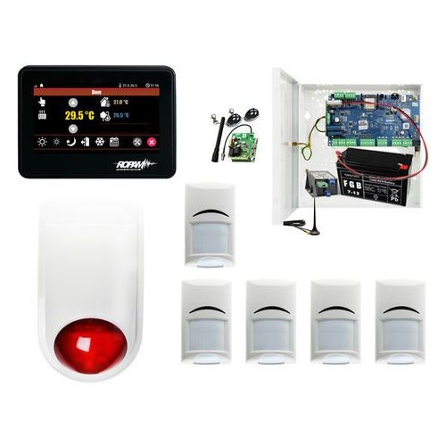 Zestawy alarmowe, Zestaw alarmowy Syrena + Ropam NeoGSM-IP-PS + 5xBosch+ TPR-4B