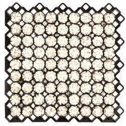 Płyta kratka trawnikowa kolor czarny 60x60x4cm 34,65m2 96szt
