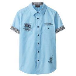 Koszula z krótkim rękawem bonprix jasnoniebieski