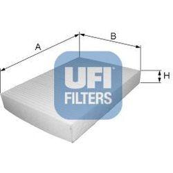 Filtr, wentylacja przestrzeni pasażerskiej UFI 53.093.00