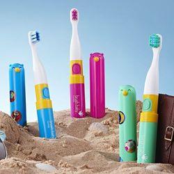 BRUSH-BABY Go-KIDZ - szczoteczka soniczna dla dzieci z kolorowymi naklejkami