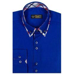 Koszula męska elegancka z długim rękawem chabrowa Bolf 4704-1
