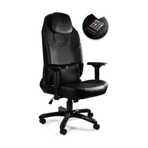 Fotele dla graczy, Fotel gamingowy Unique DYNAMIQ V9 z głośnikami i podświetleniem LED - ZŁAP RABAT: KOD100