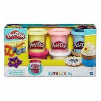 Ciastolina, Play Doh Ciastolina Konfetti z 6 tubami B3423 Hasbro