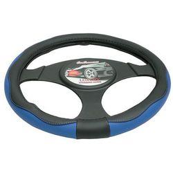 Pokrowiec na kierownicę 37-39,5 Luxury niebieski
