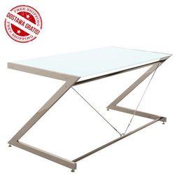Biurko Z-line - Chrom - Main Desk White, NEGOCJUJ CENĘ