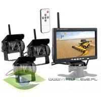Kamery przemysłowe, BEZPRZEWODOWY MONITOR + 3X KAMERA COFANIA 12V/24V