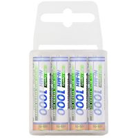 Akumulatorki, 4 x Panasonic R03/AAA Ni-MH 1000mAh (box)
