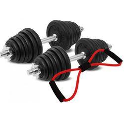 Hantle żeliwne zestaw 2x20 kg Tytan Sport 40 kg + ekspander