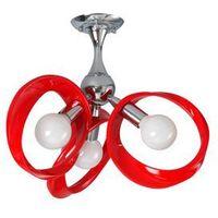 Lampy sufitowe, Plafon Emma 3 czerwony 414/3P CZE - Lampex - Sprawdź kupon rabatowy w koszyku