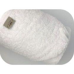 Białe okrycie kąpielowe 75x75 ręcznik z kapturkiem Ega