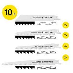 Zestaw brzeszczotów do piły szablastej drewno/metal/plastik, 10-częściowy