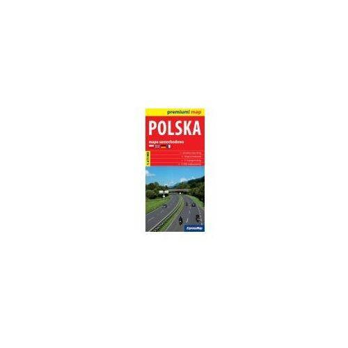 Mapy i atlasy turystyczne, Polska mapa samochodowa Polski 1:675 000 (opr. twarda)
