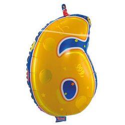 Balon foliowy Cyfra 6 - 56 cm
