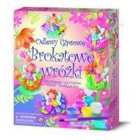 Kreatywne dla dzieci, ODLEWY GIPSOWE BROKATOWE WRÓŻKI - MINI MAGNESY LUB WPINKI