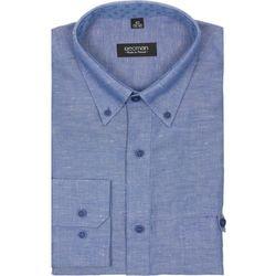 koszula martos 1850 długi rękaw custom fit niebieski