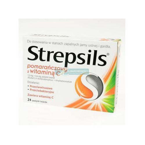 Leki na gardło, Strepsils pomarańczowy z wit.C 100 24 pastyl.