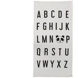 Dywan dziecięcy alfabet i panda ELIOT — 100% bawełny — 60 x 120 cm — biało-czarny