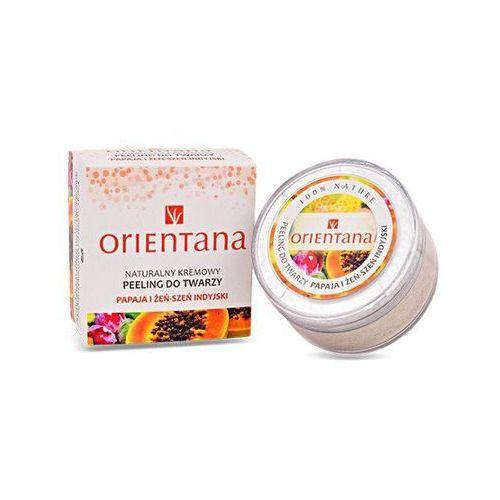 Peeling do twarzy, Peeling do twarzy papaja i żeń-szeń Orientana 50g