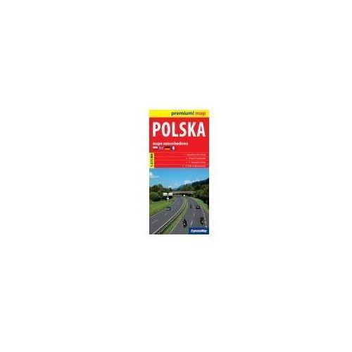 Mapy i atlasy turystyczne, Polska mapa samochodowa Polski 1:675 000 (opr. broszurowa)